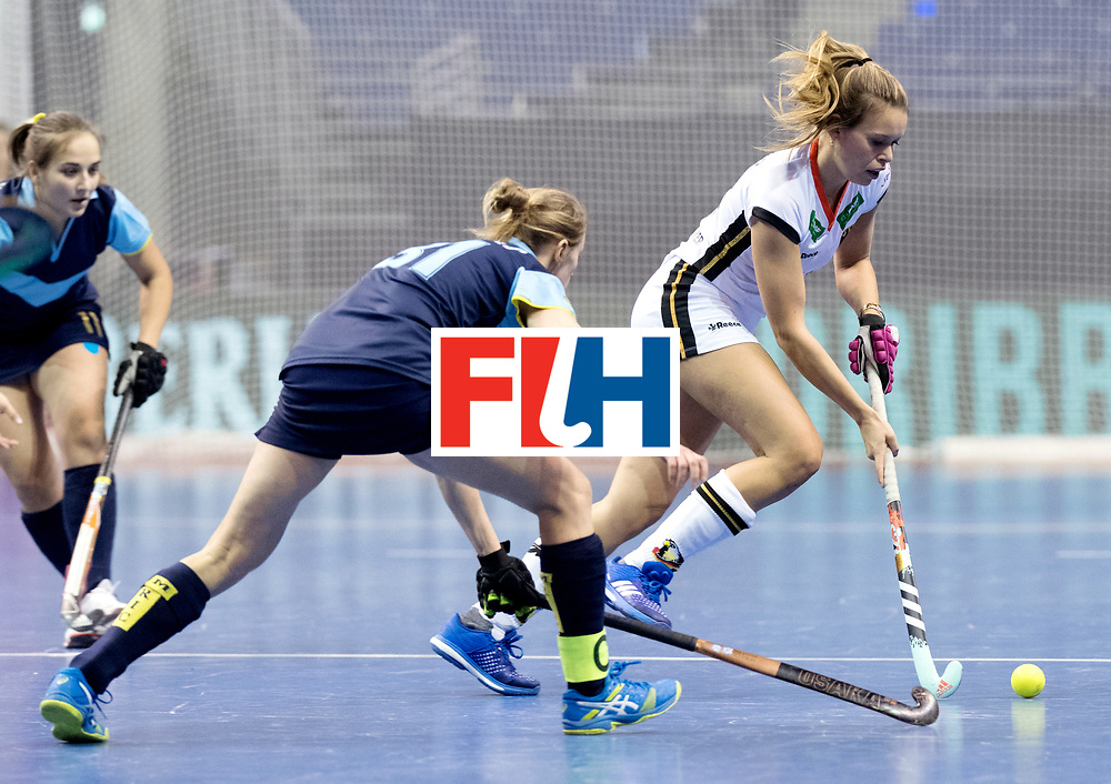 BERLIN - Indoor Hockey World Cup<br /> Women: Ukraine - Germany<br /> foto: Anne Schroeder.<br /> WORLDSPORTPICS COPYRIGHT FRANK UIJLENBROEK