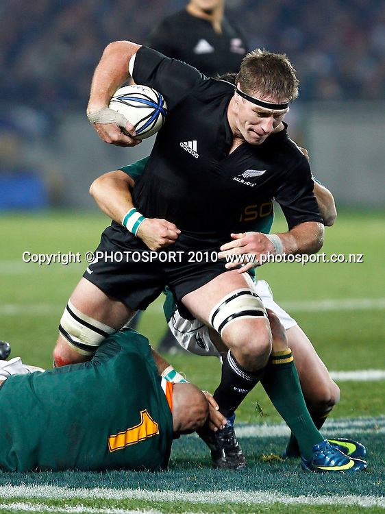 All Black lock Brad Thorn. Rugby Union International Test Match. Investec Tri-Nations, New Zealand All Blacks v South Africa Springboks, Eden Park, Auckland, New Zealand. Saturday 10 July 2010. Photo: Simon Watts/PHOTOSPORT