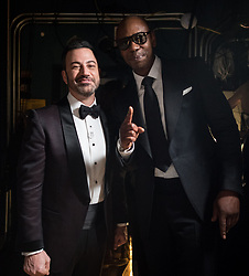 March 4, 2018 - Hollywood, California, U.S. - Jimmy Kimmel and Dave Chapelle pose backstage during the live ABC Telecast of The 90th Oscars at the Dolby Theatre in Hollywood. (Credit Image: ? Matt Petit/AMPAS via ZUMA Wire/ZUMAPRESS.com)