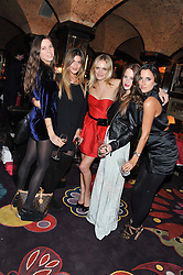Left to right, ALICE BRINKLEY, ALEXA CARLSON, LEAH DE WAVRIN, ROSIE FORTESCUE and LILY FORTESCUE at a party to celebrate the publication of Tatler Magazine's Little Black Book 2012 held at Annabel's, Berkeley Square, London on 7th November 2012.