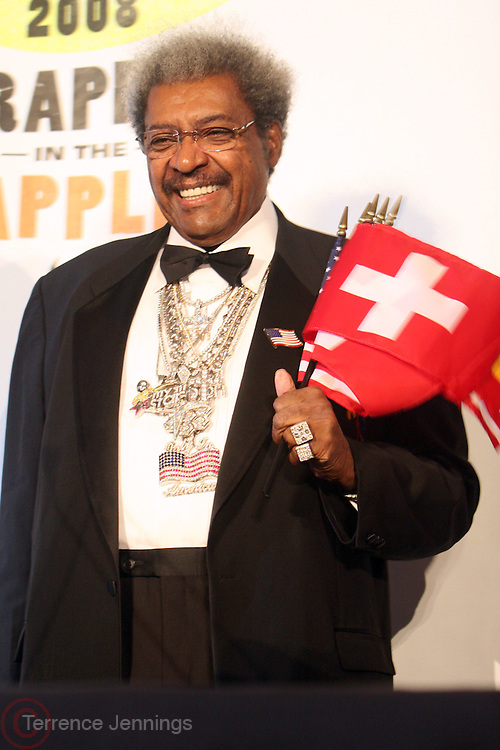 Don King at the Don King and Nike presentation(press conference) ' Grapple in the Apple '  with Roger Federer and Raphael Nadal at The Madarin Oriental Hotel (North Salon) on August 21, 2008 in New York City