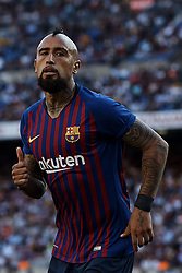 September 29, 2018 - Barcelona, Barcelona, Spain - Arturo Vidal of FC Barcelona looks on during the La Liga match between FC Barcelona and Athletic Club de Bilbao at Camp Nou on September 29, 2018 in Barcelona, Spain  (Credit Image: © David Aliaga/NurPhoto/ZUMA Press)