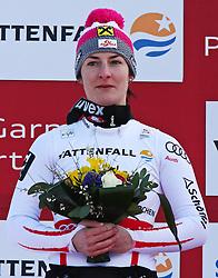 19.02.2011, Gudiberg, Garmisch Partenkirchen, GER, FIS Alpin Ski WM 2011, GAP, Damen, Slalom, im Bild silber Medaille Kathrin Zettel (AUT) // silver medal Kathrin Zettel (AUT)  during Ladie's Slalom Fis Alpine Ski World Championships in Garmisch Partenkirchen, Germany on 19/2/2011. EXPA Pictures © 2011, PhotoCredit: EXPA/ M. Gunn