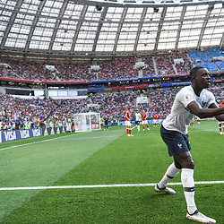 Benjamin Mendy of France during the FIFA World Cup Group C match between Denmark and France at Luzhniki Stadium on June 26, 2018 in Moscow, Russia. (Photo by Anthony Dibon/Icon Sport)