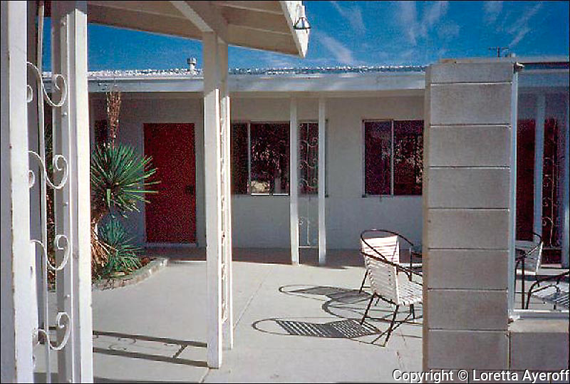 """The Motel Series"" were shot on Kodachrome 64 film, 1981-985, in Desert Hot Springs, CA, while I was working on the ""California Ruins."" A few have been published and exhibited. Three images, including ""Orange Umbrella"" are included in the 2012 J. Paul Getty Trust's exhibition ""Pacific Standard Time: Art in Los Angeles, 1945-1980"" in the Palm Springs Art Museum's PST exhibition ""The Swimming Pool in Southern California Photography, 1945-1982."" A portfolio of this series is in the permanent collection of PSAM."