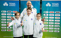 U12 Slovenian best tennis players, on January 19, 2019 in TK Triglav, Kranj, Slovenia. Photo by Vid Ponikvar / Sportida