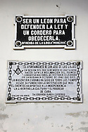 Masonic sign in San José de las Lajas, Mayabeque, Cuba.