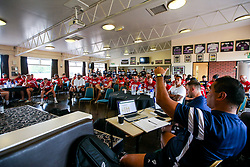 Director of Rugby Pat Lam leads a Team Meeting as Bristol Bears train and prepare for the 2018/19 Gallagher Premiership Rugby Season - Mandatory by-line: Robbie Stephenson/JMP - 16/07/2018 - RUGBY - Clifton Rugby Club - Bristol, England - Bristol Bears Training