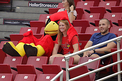 19 August 2017:  Reggie Redbird during a college women's volleyball match Scrimmage of the Illinois State Redbirds at Redbird Arena in Normal IL (Photo by Alan Look)
