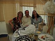 Eva Rausing, Nick Mason and Mrs. Geordie Greig, Cartier International Polo final day, Guards Polo Club, Windsor Great Park, 27 July 2003. © Copyright Photograph by Dafydd Jones 66 Stockwell Park Rd. London SW9 0DA Tel 020 7733 0108 www.dafjones.com
