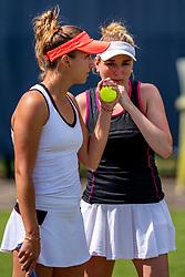 13-06-2019 NED: Libema Open, Rosmalen<br /> Grass Court Tennis Championships / Paula Kania POL, Nicola Geuer GER
