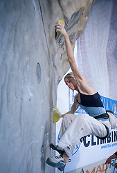 Climber Maja Vidmar (SLO) at World cup competition in Zlato polje, Kranj, Slovenia, on November 15, 2008.  (Photo by Vid Ponikvar / Sportida)