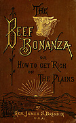 The beef bonanza; or, How to get rich on the plains. Being a description of cattle-growing, sheep-farming, horse-raising, and dairying in the West<br /> by General Brisbin, James S. (James Sanks), 1837-1892. Published in Philadelphia, USA in 1882