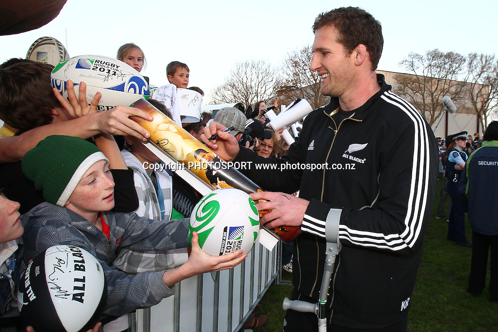 Kieran Read. IRB Rugby World Cup 2011, All Blacks Fan Day at Pakuranga Rugby Club, Auckland, New Zealand. Sunday 4th September 2011. Photo: Anthony Au-Yeung / photosport.co.nz