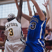 12/27/11 Wilmington DE: Wilmington Charter Senior Center Kelly Perillo #33  shoots the ball in paint as seaford Amira Holland #3 defends during a Diamond State Classic game Tuesday Dec. 28, 2011 at St. Elizabeth High School in Wilmington Delaware...Special to The News Journal/SAQUAN STIMPSON
