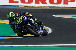 May 18, 2018 - Le Mans, France - Valentino Rossi (Movistar Yamaha) during the practice sessions.during MotoGP Le Mans practice sessions in France  (Credit Image: © Gaetano Piazzolla/Pacific Press via ZUMA Wire)