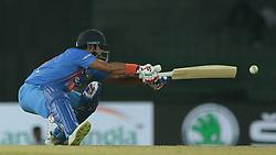 March 8, 2018 - Colombo, Sri Lanka - Indian cricketer Suresh Raina reaches out to play a shot during the 2nd T20 cricket match of NIDAHAS Trophy between India  and Bangladesh at R Premadasa cricket ground, Colombo, Sri Lanka on Thursday 8 March 2018. (Credit Image: © Tharaka Basnayaka/NurPhoto via ZUMA Press)