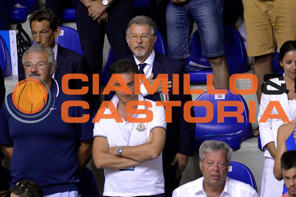DESCRIZIONE : Cagliari Qualificazione Eurobasket 2015 Qualifying Round Eurobasket 2015 Italia Svizzera Italy Switzerland<br /> GIOCATORE : Claudio Silvestri<br /> CATEGORIA : Vip<br /> EVENTO : Cagliari Qualificazione Eurobasket 2015 Qualifying Round Eurobasket 2015 Italia Svizzera Italy Switzerland<br /> GARA : Italia Svizzera Italy Switzerland<br /> DATA : 17/08/2014<br /> SPORT : Pallacanestro<br /> AUTORE : Agenzia Ciamillo-Castoria/Max.Ceretti<br /> Galleria: Fip Nazionali 2014<br /> Fotonotizia: Cagliari Qualificazione Eurobasket 2015 Qualifying Round Eurobasket 2015 Italia Svizzera Italy Switzerland<br /> Predefinita :