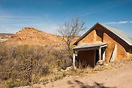 Adobe house, Abiquiu, New Mexico