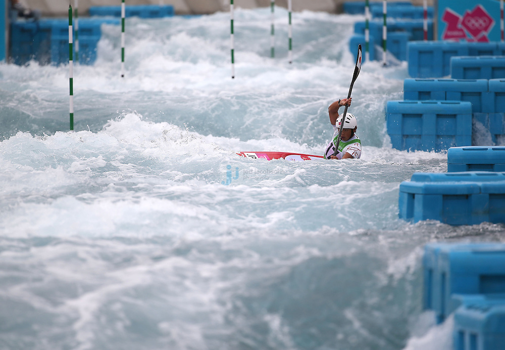 Kazuki Yazawa of Japan competes during the finals of the kayak slalom single 1k event at the Lee Valley White Water Centre during day 5 of the London Olympic Games London, England, United Kingdom on August 1, 2012..(Jed Jacobsohn/for The New York Times)....