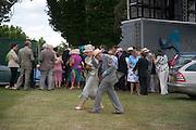 JOHN SHERWOOD; GERALDINE SHERWOOD, Glorious Goodwood. Sussex. 28 July 2010, -DO NOT ARCHIVE-© Copyright Photograph by Dafydd Jones. 248 Clapham Rd. London SW9 0PZ. Tel 0207 820 0771. www.dafjones.com.