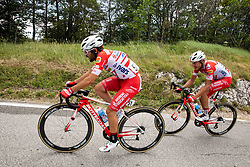 Andrea Vendrame (ITA) of Androni Giocattoli - Sidermec and Fausto Masnada (ITA) of Androni Giocattoli - Sidermec during 4th Stage of 26th Tour of Slovenia 2019 cycling race between Nova Gorica and Ajdovscina (153,9 km), on June 22, 2019 in Slovenia. Photo by Vid Ponikvar / Sportida