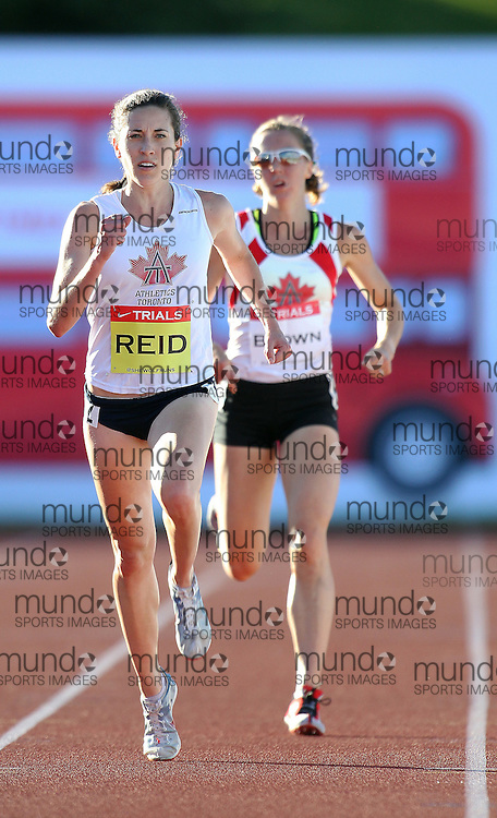 2012 Canadian Track & Field Olympic Trials - Calgary Alberta - June 29, 2012..Sheila Reid competes in the 5000m at the 2012 Canadian Track and Field Olympic Trials in Calgary, Alberta, June 29, 2012..Claus Andersen/ Claus Andersen Photography/ Mundo Sport Images