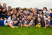 24/09/2016, Intermediate Camogie Final at Trim.<br /> Boardsmill vs Dunderry<br /> Boardsmill team celebrate with the cup after defeating Dunderry in the intermediate Camogie Final<br /> Photo: David Mullen /www.cyberimages.net / 2016<br /> ISO: 640; Shutter: 1/256; Aperture: 6.4; <br /> File Size: 2.7MB<br /> Print Size: 8.6 x 5.8 inches