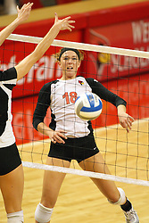 01 September 2012:  Kaitlyn Early settles to the floor after a hit watching the ball sink on the other side of the net during an NCAA womens volleyball match between the Oregon State Beavers and the Illinois State Redbirds at Redbird Arena in Normal IL