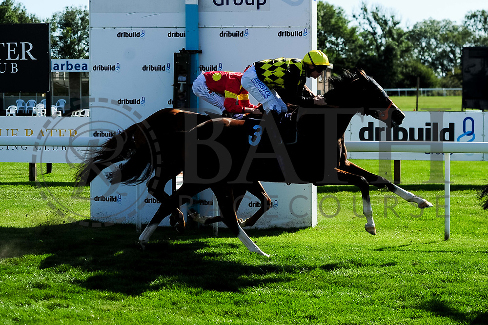 Mac McCarthy ridden by Finley Marsh and trained by Richard Hughes in the Sds Symbiotic Nursery Handicap race. Willa ridden by Fergus Sweeney and trained by Richard Hannon in the Sds Symbiotic Nursery Handicap race.  - Ryan Hiscott/JMP - 14/09/2019 - PR - Bath Racecourse - Bath, England - Race Meeting at Bath Racecourse