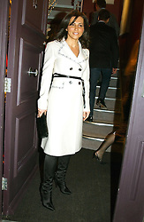 ELLA KRASNER at a party hosted American House and Garden magazine with Tomasz Starzewski and Nina Campbell to celebrate the British Issue of the magazine, held at 14 Stanhope Mews West, London SW7 on 13th March 2005.<br />