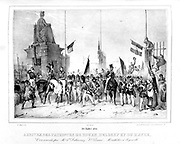 Arrival in Paris of the Patriots from Rouen and le  Havre during the Revolution 1830.