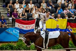 CAVALLARO Anna (ITA), Monaco Franze<br /> Tryon - FEI World Equestrian Games™ 2018<br /> Nations Team Vaulting Championship<br /> 19. September 2018<br /> © www.sportfotos-lafrentz.de/Stefan Lafrentz