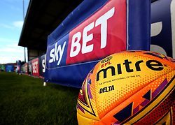 Mitre Delta EFL Football next to a Sky Bet Advertising board - Mandatory by-line: Robbie Stephenson/JMP - 18/08/2017 - FOOTBALL - Pirelli Stadium - Burton upon Trent, England - Burton Albion v Birmingham City - Sky Bet Championship
