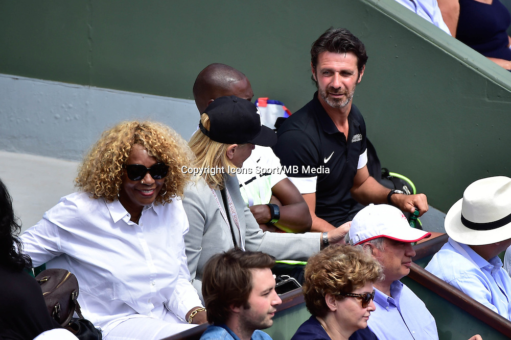 Oracene PRICE / Patrick MOURATOGLOU - 03.06.2015 - Jour 11 - Roland Garros 2015 <br />Photo : Dave Winter / Icon Sport