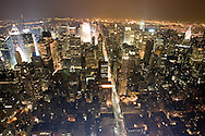 It may not be the tallest, but it is still the top of the world.  Manhattan at night from the Empire State Building