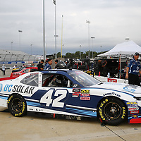 The NASCAR Xfinity Series teams take to the track for the Go Bowling 250 at Richmond Raceway in Richmond, Virginia.