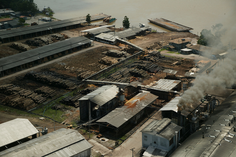 Dec. 11, 2003: The Madenorte sawmill at Breves in Para State, Brazil. ©Daniel Beltra