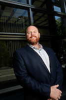 20 August 2013:  Andrew Meyers, Webcor Builders Senior Partner photographed outside their LA offices in Southern California.