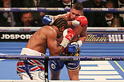 Tony Bellew and David Haye exchange punches at the O2 Arena, London, United Kingdom on 5 May 2018. Picture by Phil Duncan.