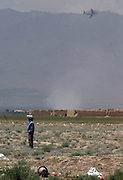 demining in the Bagram region by UNMACA local deminers..