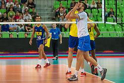 Mitja Gasparini of Slovenia during friendly volleyball match between national teams of Slovenia and Brasil in Arena Stozice on 9. September 2015 in , Ljubljana, Slovenia. Photo by Grega Valancic / Sportida