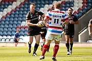 Bradford Bulls James Davies (36) eyes a run during the Kingstone Press Championship match between Rochdale Hornets and Bradford Bulls at Spotland, Rochdale, England on 18 June 2017. Photo by Simon Davies.