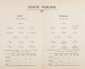 26.10.1941 Munster Senior Hurling Final, held at Croke Park, Dublin, Ireland.
