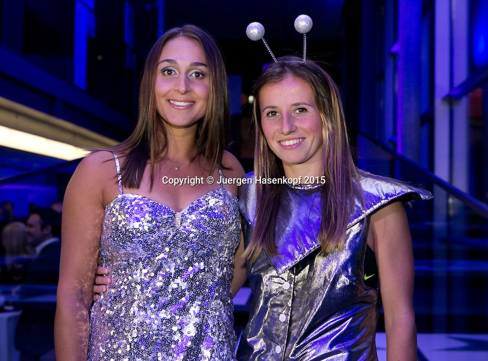 Annika Beck (GER) und Tamira Paszek (AUT) auf der Players Party,<br /> <br /> Tennis - Ladies Linz 2015 - WTA -   - Linz -  - Oesterreich - 12 October 2015. <br /> &copy; Juergen Hasenkopf/Molter