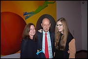 ALLEN JONES; THEA JONES; GRACE SHEPHERD, ( HIS DAUGHTER AND GRANDAUGHTER ) , Allen Jones private view. Royal Academy,  London. 11 November  2014.