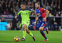 Football - 2016 / 2017 Premier League - Crystal Palace vs. Liverpool<br /> <br /> Philippe Coutinho of Liverpool and Yohan Cabaye at Selhurst Park.<br /> <br /> COLORSPORT/ANDREW COWIE