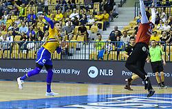 Domen Makuc of Celje during handball match between RK Celje Pivovarna Lasko and RK Gorenje Velenje in last round of Liga NLB 2018/19, on May 31st, 2019, in Arena Zlatorog, Celje, Slovenia. RK Celje PL became Slovenian National Champion in year 2019. Photo by Milos Vujinovic / Sportida