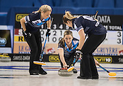 "Glasgow. SCOTLAND.  Scotland""s Lauren GRAY, Releases the ""Stone"" during  the ""Round Robin"" Game.  Scotland vs Russia,  Le Gruyère European Curling Championships. 2016 Venue, Braehead  Scotland<br /> Thursday  24/11/2016<br /> <br /> [Mandatory Credit; Peter Spurrier/Intersport-images]"