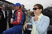 Ashley Judd hangs out in the pit area during qualifications for the 2004 Indy 500. Photo by Michael Hickey